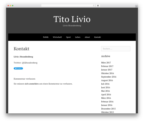 Freelancer WordPress theme - titolivio.ch