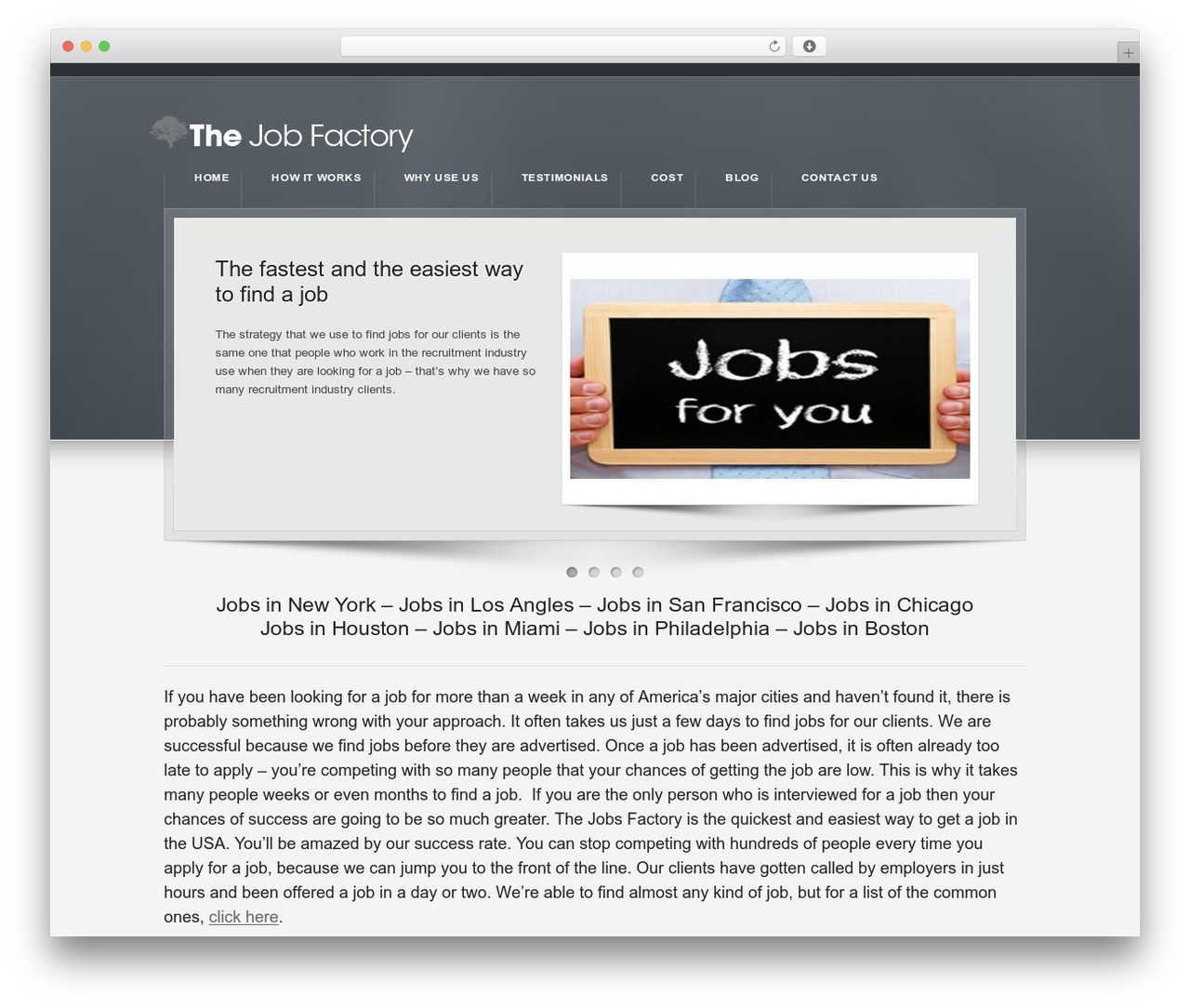 Karma top WordPress theme by TrueThemes - thejobsfactory.com