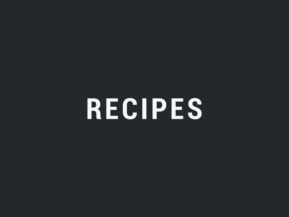 Recipes template WordPress