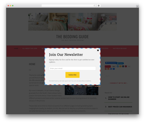 Free WordPress Feature A Page Widget plugin - thebeddingguide.com
