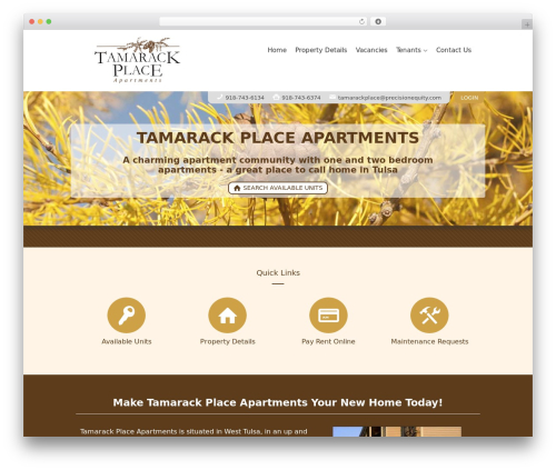 Theme WordPress AppFolio MVP Theme - tamarackplaceapartments.com