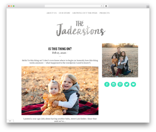 Themify Simfo WordPress theme - thejaderstons.com