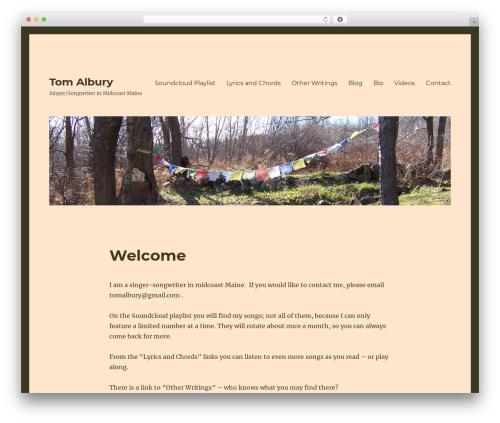 Twenty Sixteen best free WordPress theme - tomalbury.com