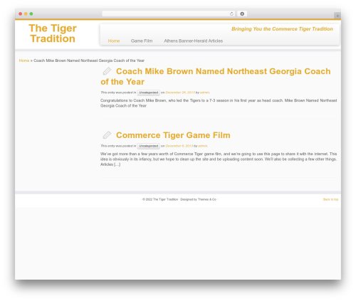 WordPress theme Customizr - thetigertradition.com