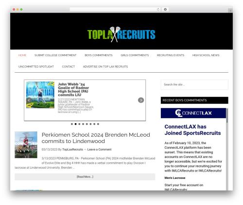 WordPress website template Genesis - toplaxrecruits.com