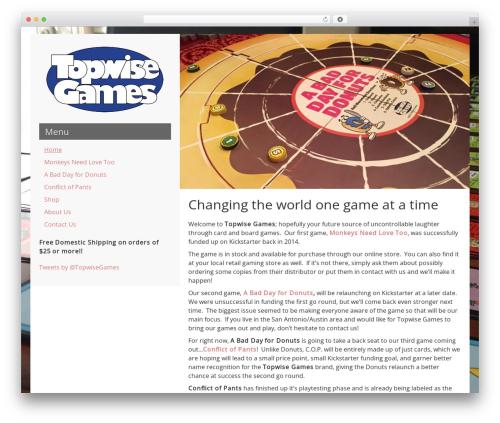 WordPress website template LeftSide - topwisegames.com