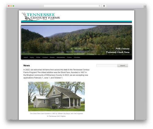 WP template TwentyTen Child - tncenturyfarms.org
