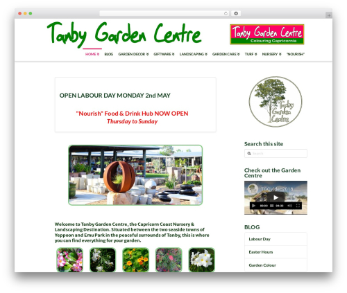 Free WordPress TablePress plugin - tanbygardencentre.com.au