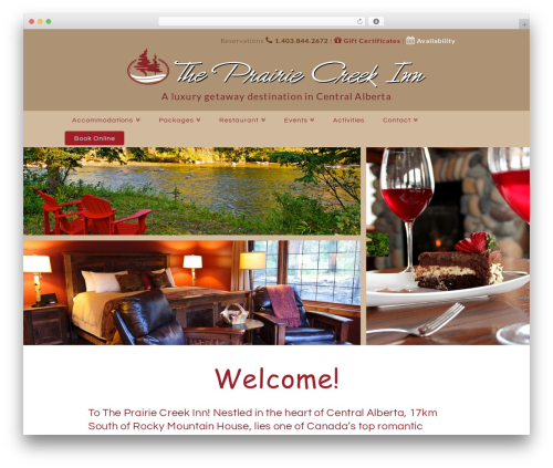 X WordPress restaurant theme - theprairiecreekinn.com