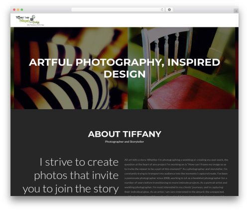 Zerif Lite WordPress theme - tiffanyleephotography.com