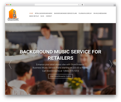 AccessPress Parallax template WordPress free - retailbackgroundmusic.com