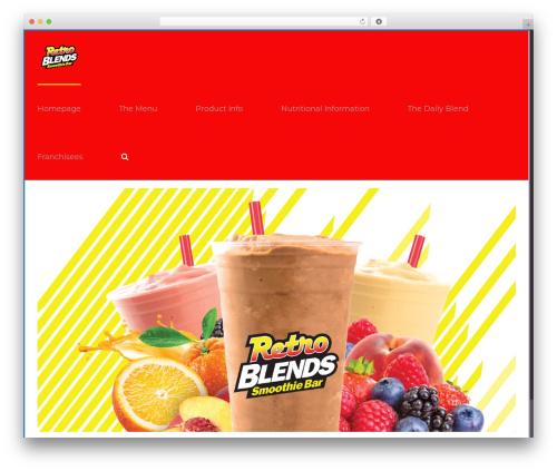 Avada WordPress theme design - retroblendssmoothies.com