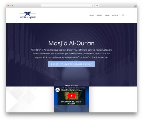 Best WordPress theme Divi - masjidalquranatl.com
