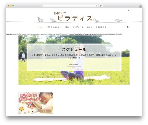 Best WordPress theme Edge - hibari-pilates.com