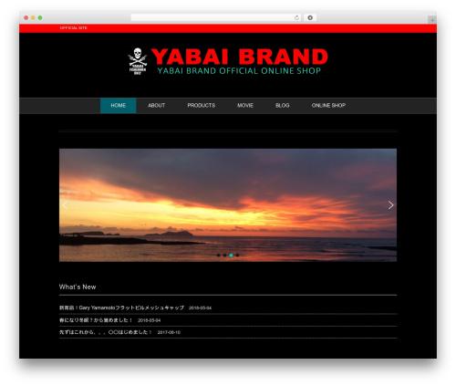 Black Studio WordPress website template - yabaibrand.com