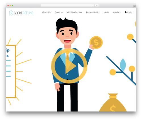 Finance WordPress portfolio template - globerefund.com