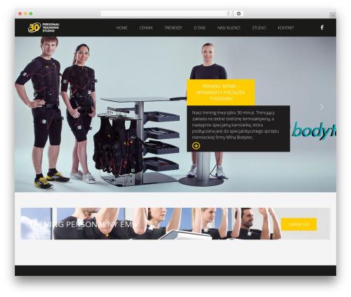 Fit Coach top WordPress theme - bemorehero.com