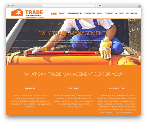 jupiter business WordPress theme - trade-mgmt.com