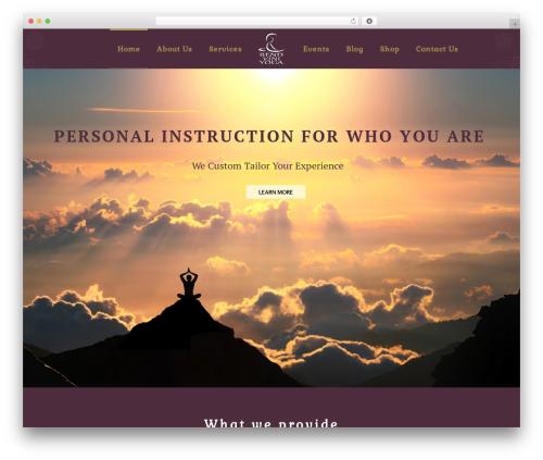 Kriya WordPress theme - bendviniyoga.com