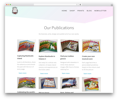 One Page Express WordPress template free - whytesonline.com