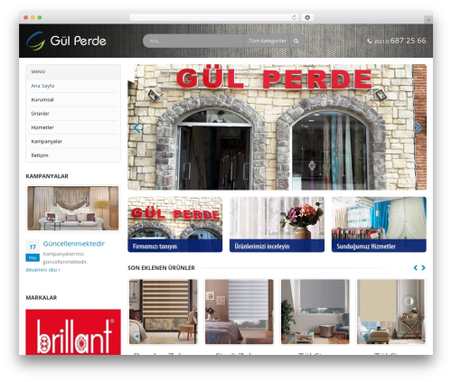 Porto WordPress website template - gulperdehome.com