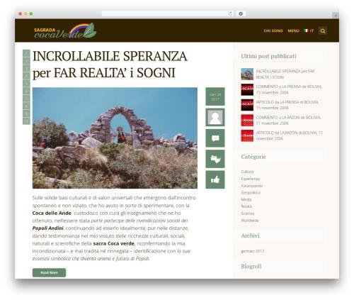 SeaShell WordPress blog theme - sagradacocaverde.com