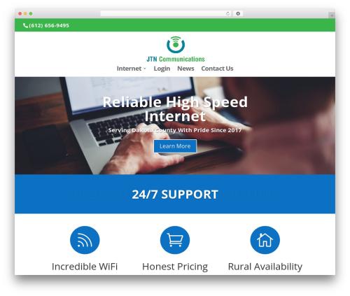Template WordPress Divi - jtncommunications.com