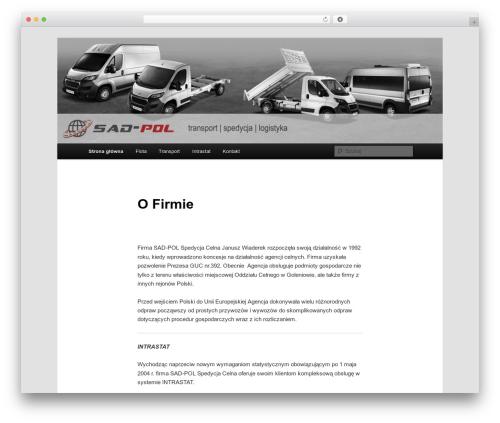 Twenty Eleven WordPress page template - sad-pol.com