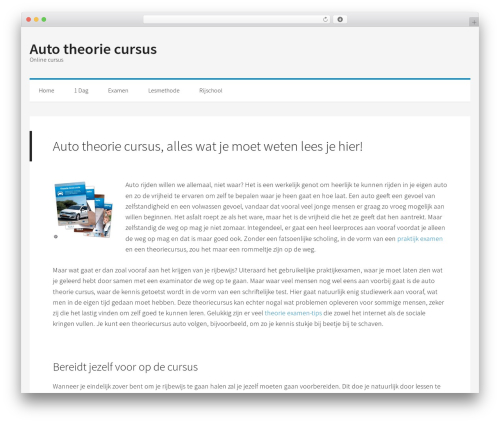 WordPress template Generate Pro - autotheoriecursus.com