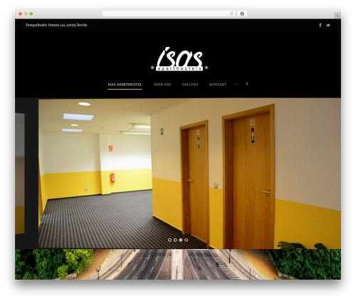 WordPress template Hotel Master - isas-aparthostel.com