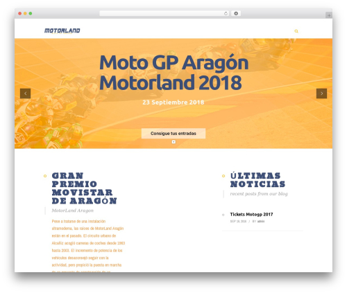 WordPress theme Eventiz - motogparagon.com