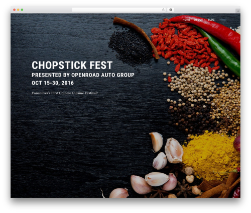 WordPress theme Eventiz - chopstickfest.com