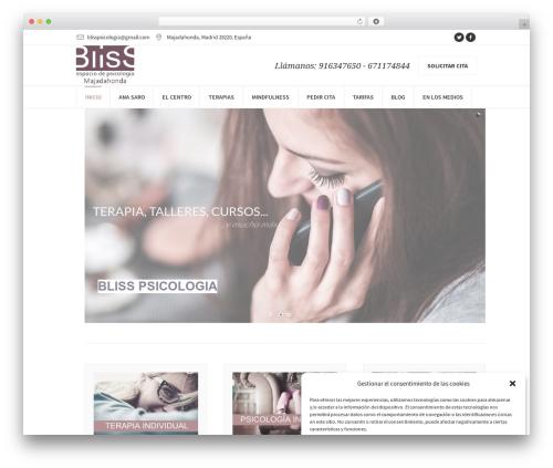 WordPress theme Psychology Help - blisspsicologia.com
