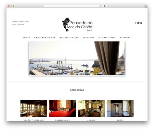 WordPress website template Bridge - pousadadomarferrol.com