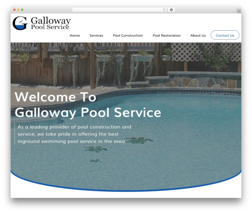 AWI top WordPress theme - gallowaypoolservice.com