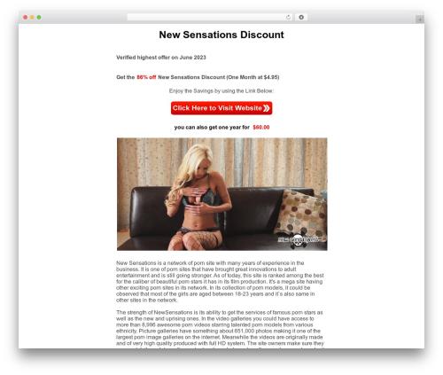 Baris premium WordPress theme - sensationsdiscount.com