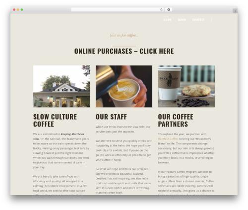 Barista WordPress ecommerce theme - brakemanscoffee.com