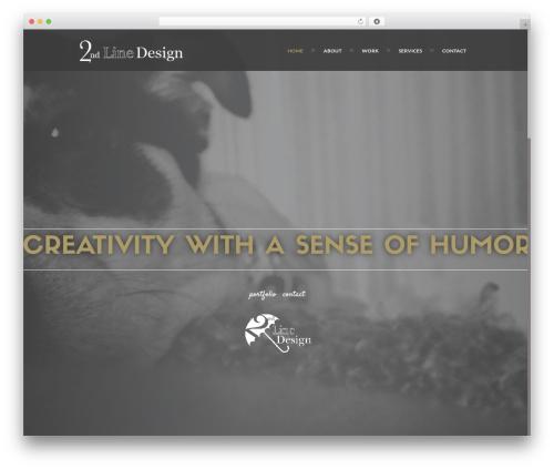 Best WordPress theme Ananke - 2ndlinedesign.com
