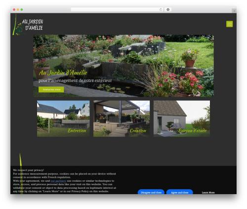 Betheme WordPress theme - au-jardin-amelie.com