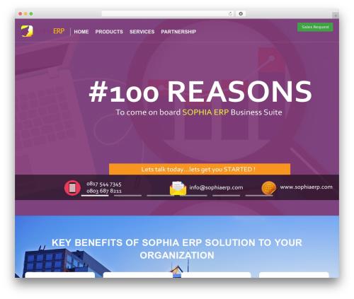 cherry business WordPress theme - sophiaerp.com