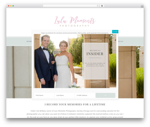 Faithful Theme WordPress theme design - lulumomentsphoto.com