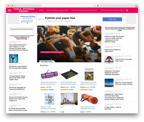Flex Mag (Reverse SEO Edition) best WordPress template - yogafitnesstrend.com