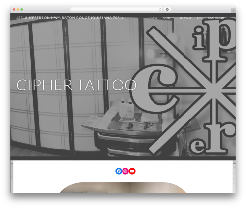 Juniper best free WordPress theme - ciphertattoo.com