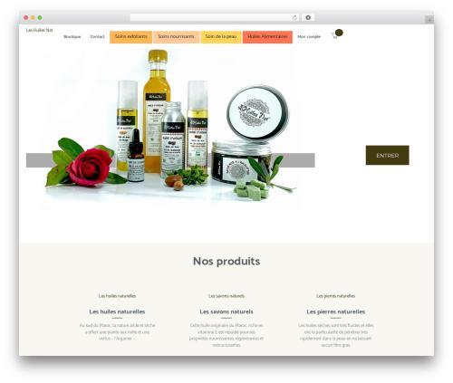 OliveOil WordPress theme design - leshuilesnat.com