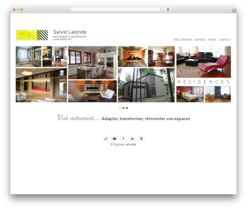 Template WordPress Themify Simfo - sylvielalonde.com