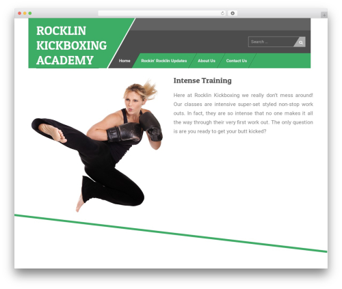 Uniq best free WordPress theme - rocklinkickboxing.com