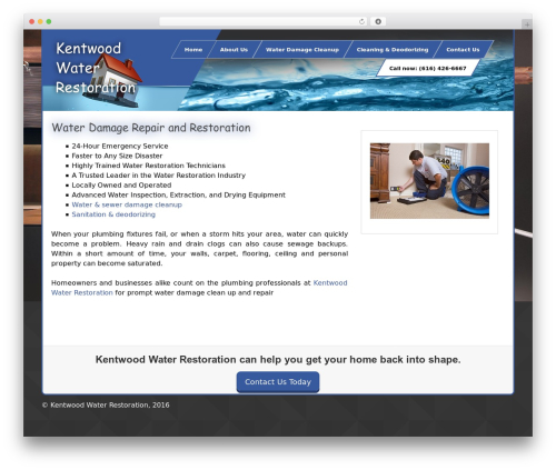 Uniq best WordPress theme - kentwoodwaterrestoration.com