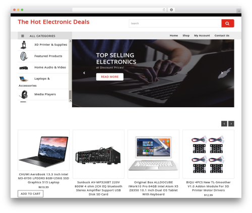 VW Ecommerce Shop WordPress free download - thehotelectronicdeals.com