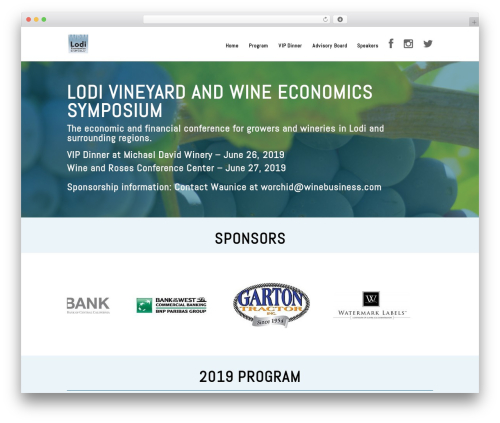 WP template Divi - lodiwinesymposium.com