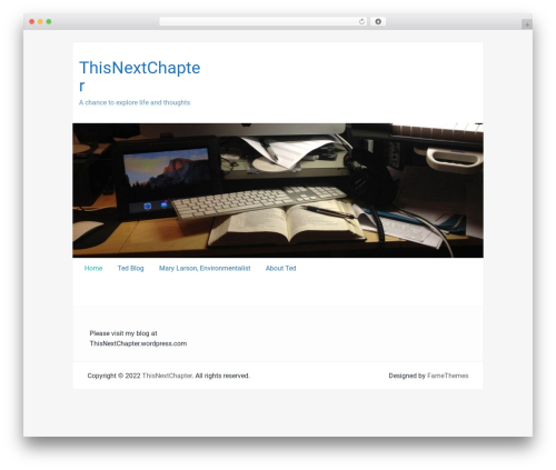 WP theme Passionate - thisnextchapter.com